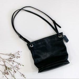 Coach Vintage Leather Bucket Bag Black Two Strap